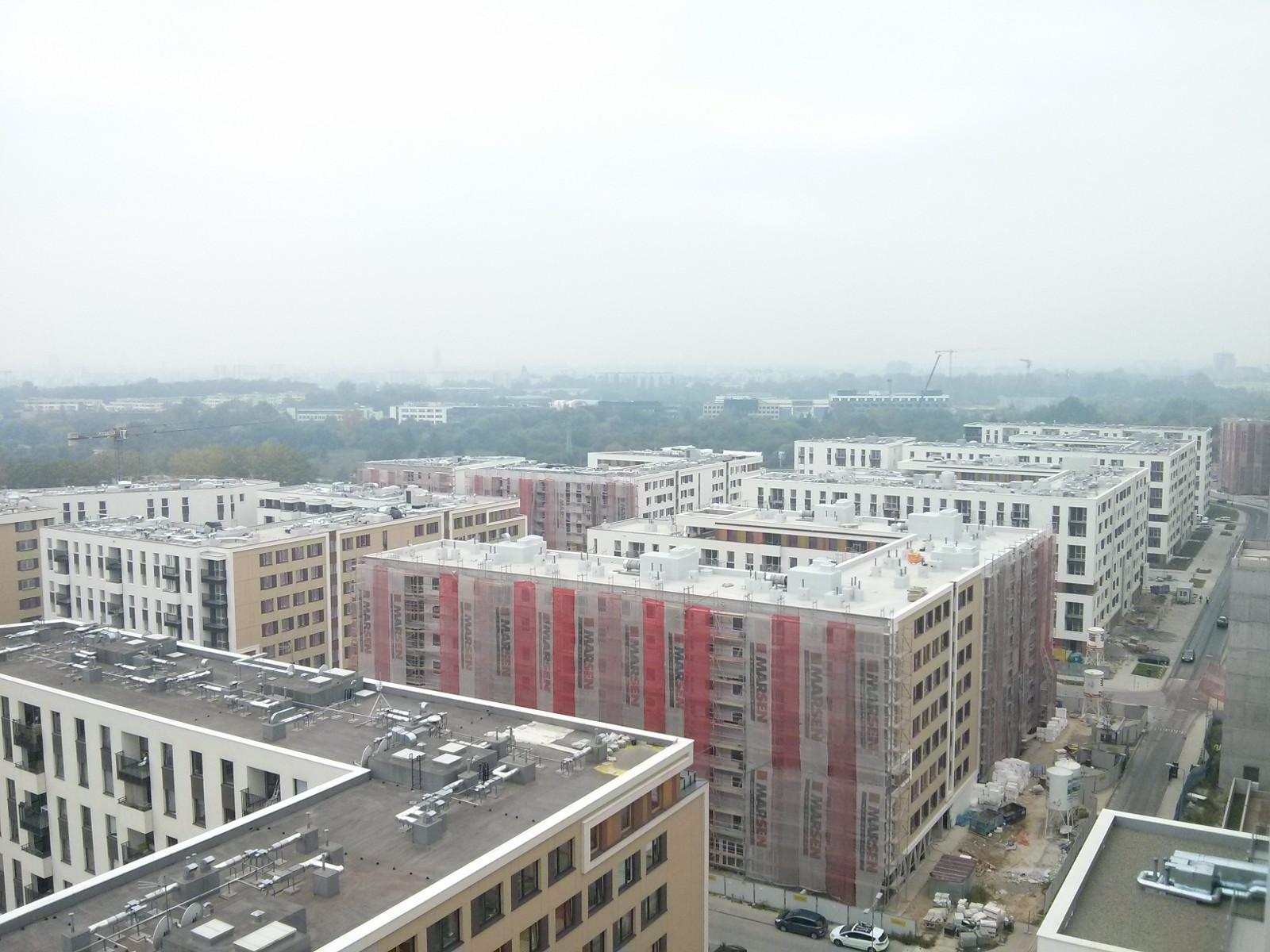 Osiedle Avia 2 - widok z mieszkań na najwyższych piętrach