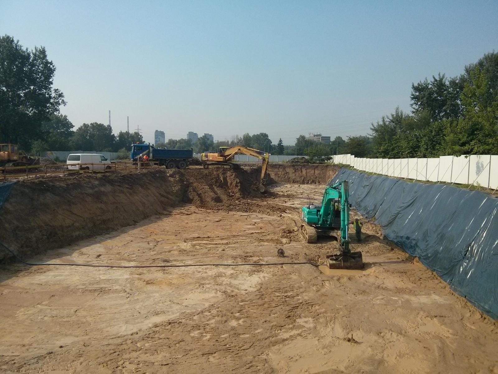 Prace budowlane prowadzone przez Budimex przy Orlińskiego 4