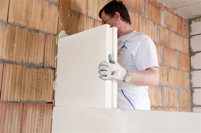 Technologia budowy ścianek działowych z bloczków gipsowych