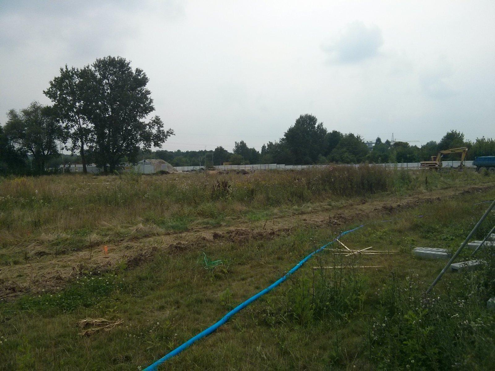 Miejsce budowy Orlińskiego 6 przez Budimex