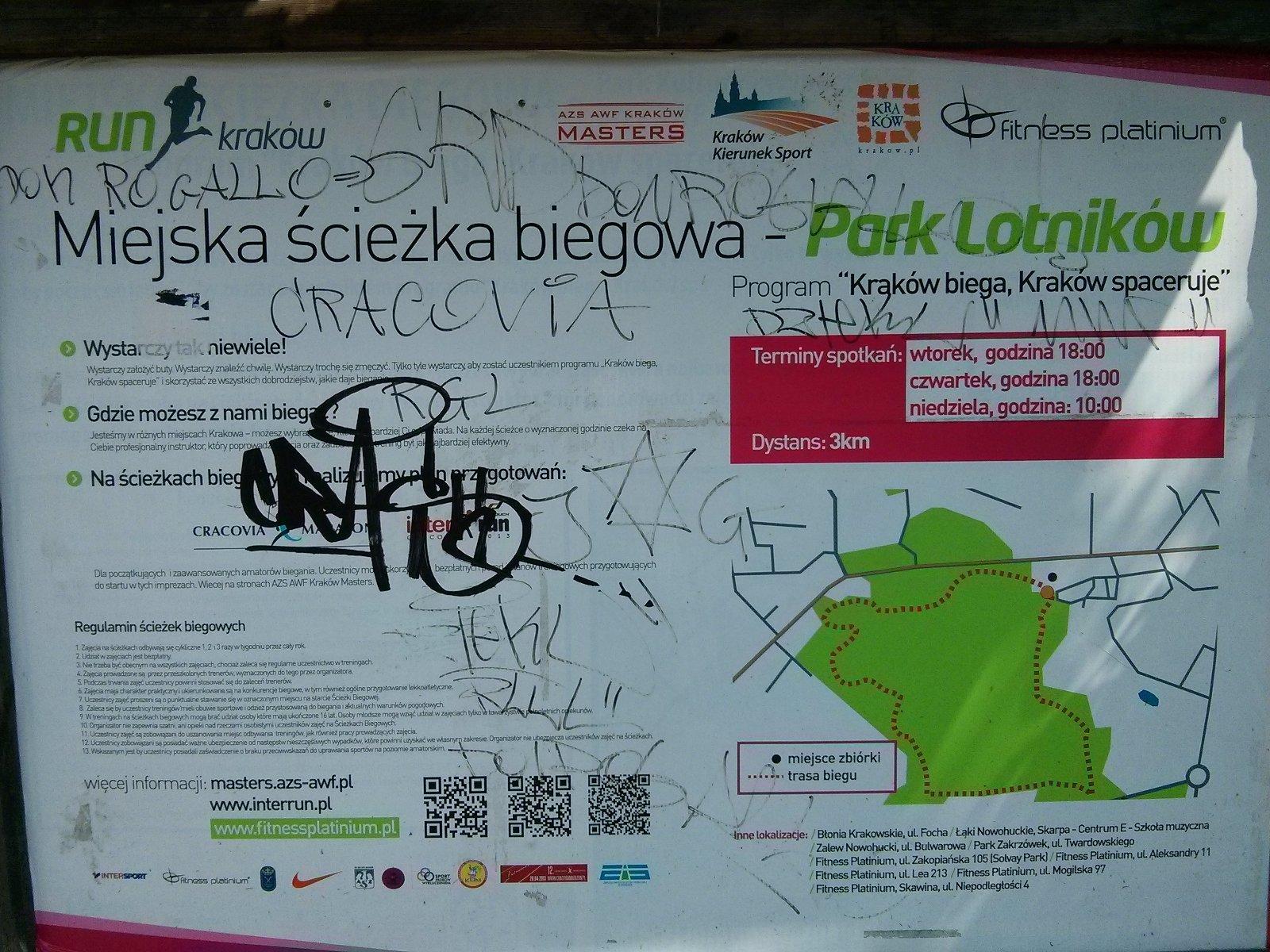 Park Pilotów Polskich i Miejska ścieżka biegowa