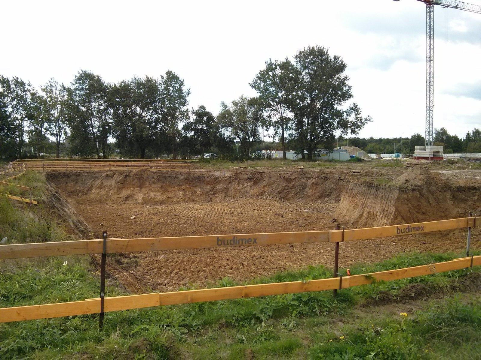 Avia 4, Orlińskiego 6 - plac budowy osiedla