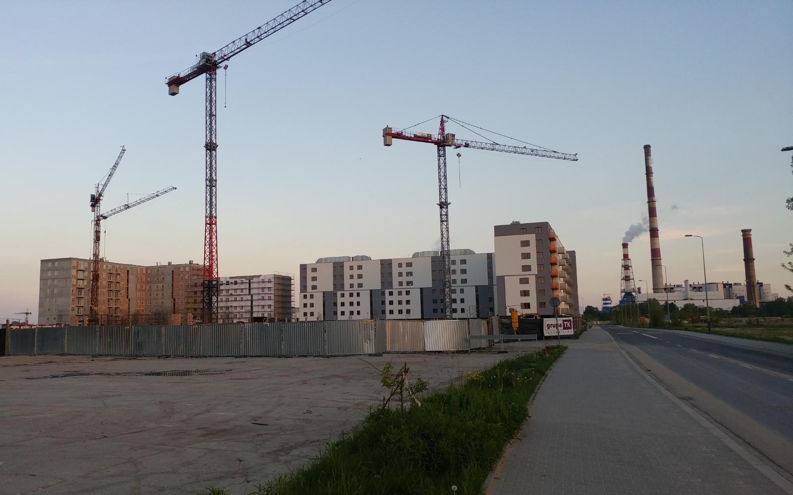Kraków - Czyżyny - trwa budowa nowych bloków