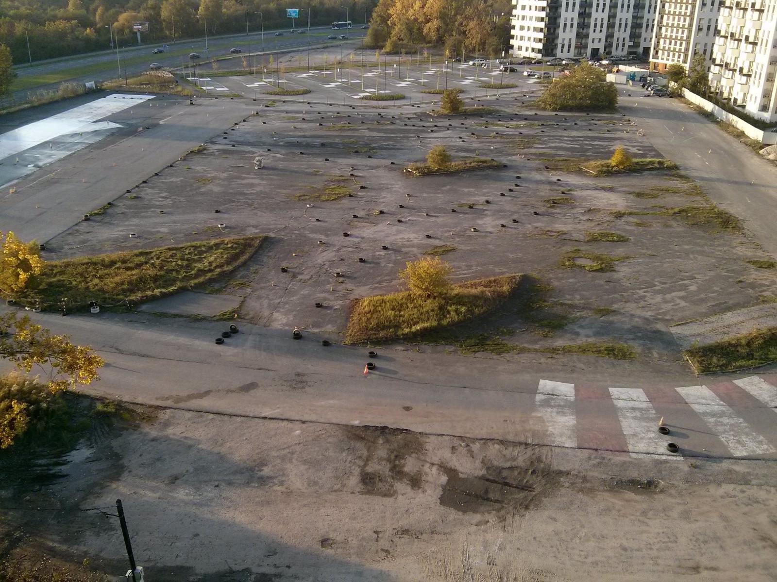 Miejsce, w którym ma zostać utworzony nowy park w Czyżynach