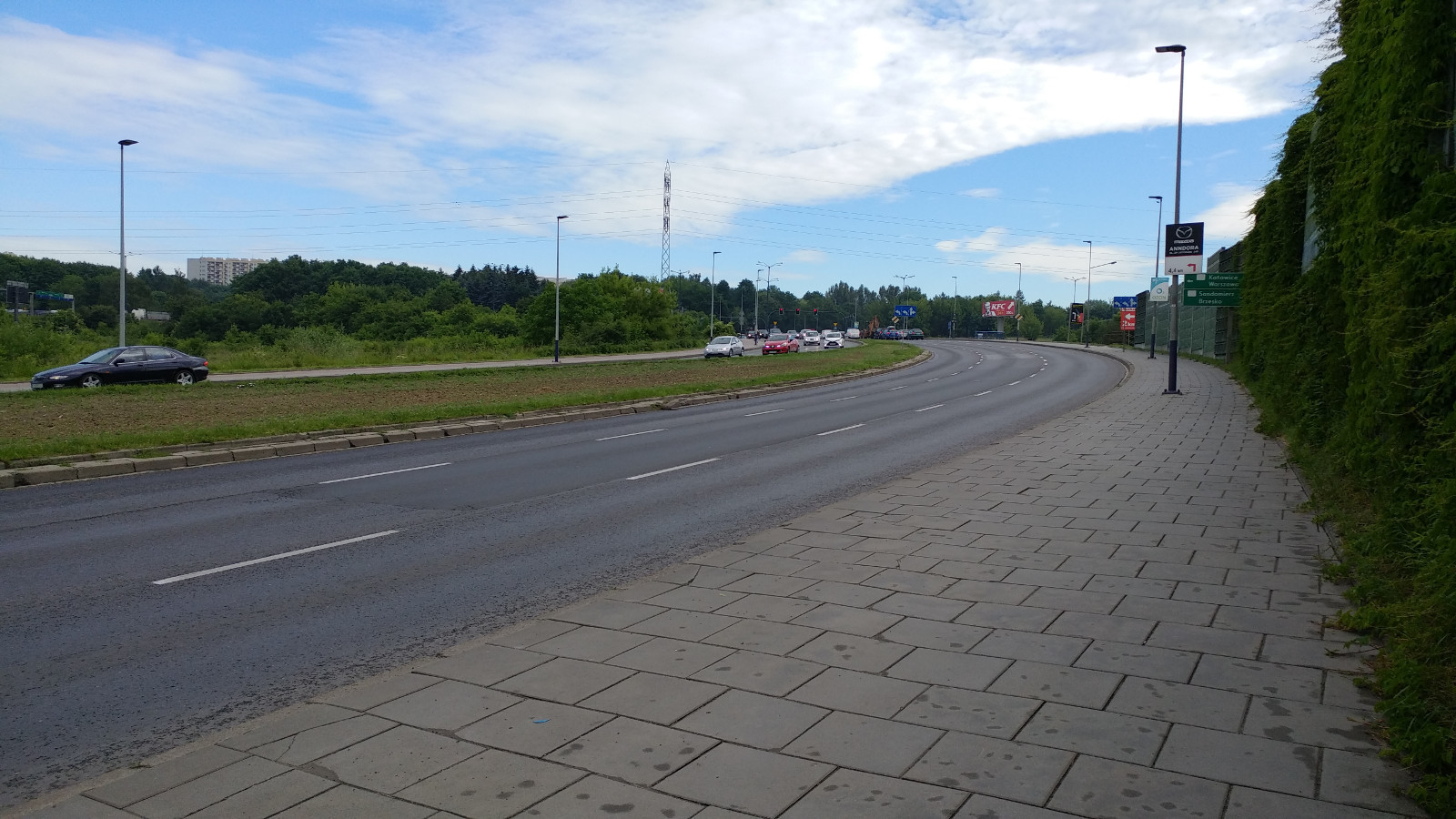 Ulica Stella-Sawickiego od początku udowy estakady na ul. Bora Komorowskiego