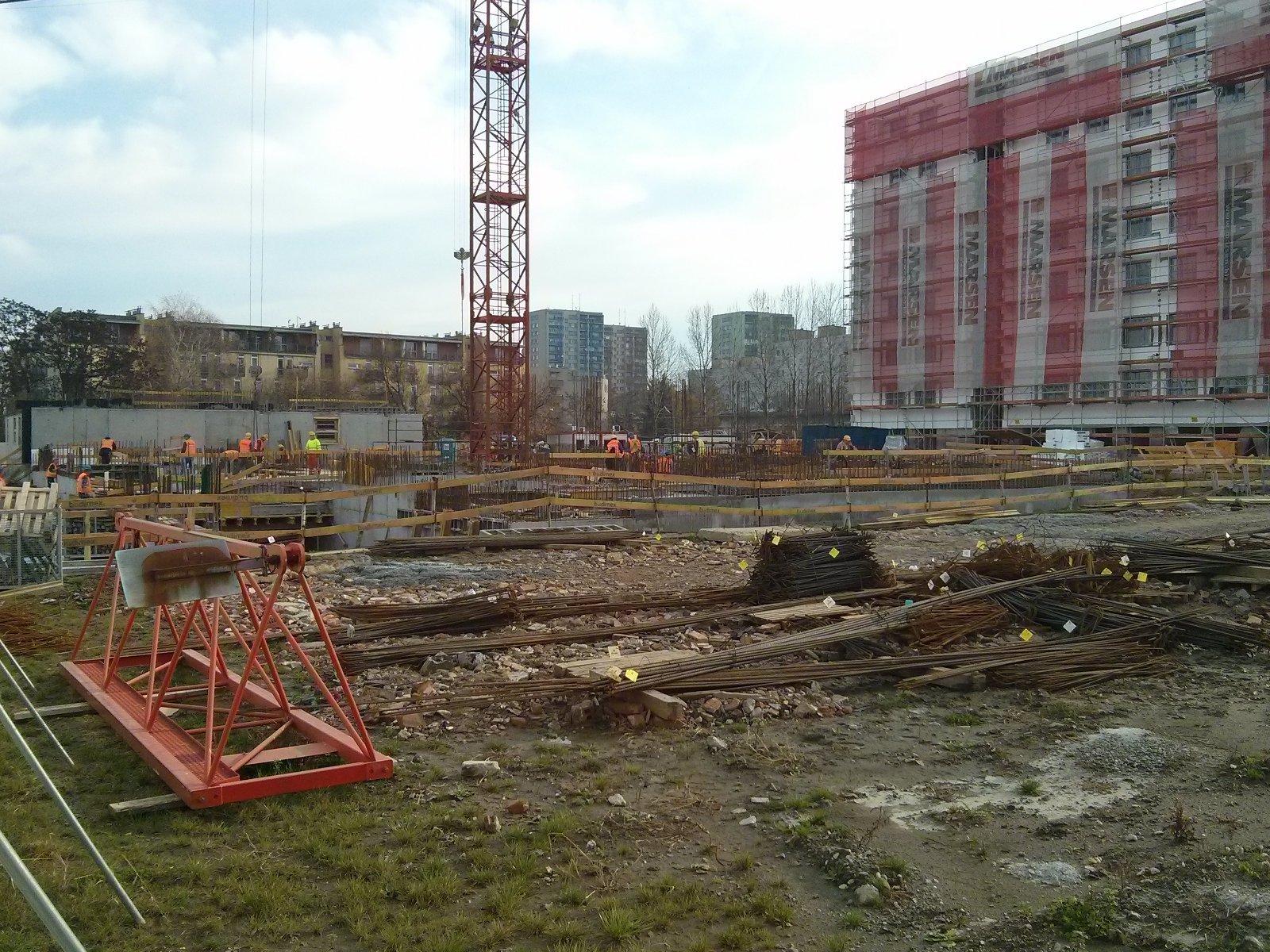 Teren budowy Avii II w krakowskich Czyżynach