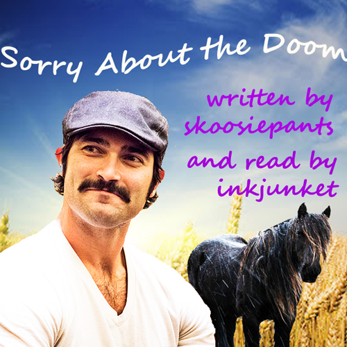 Cover with mustached Hoechlin and a pony