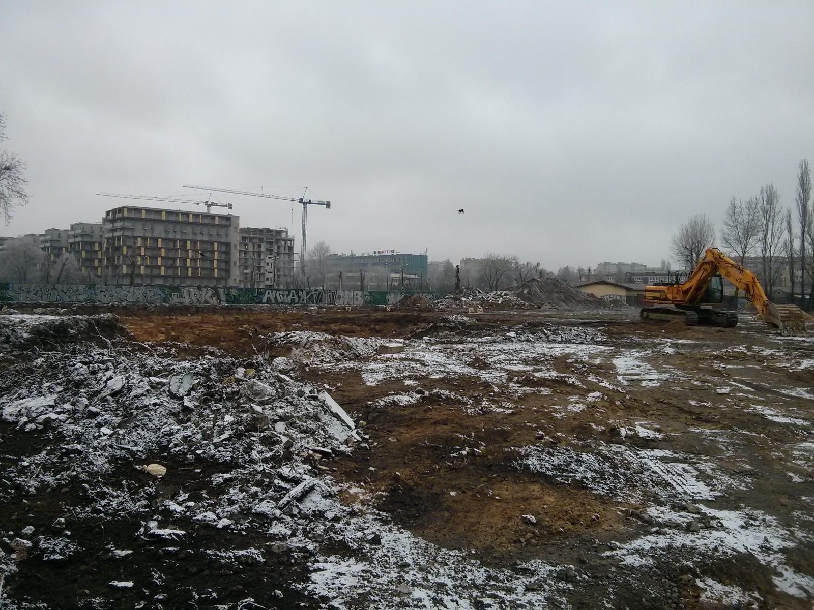 Murapol Bieńczycka - plac budowy obok City Towers