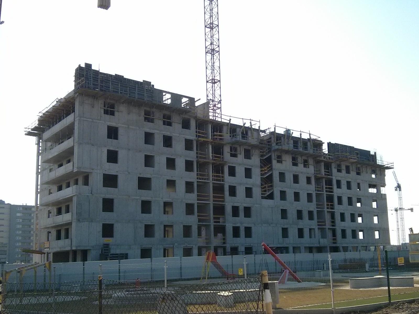 Budowa osiedla Avia 2 w nowych Czyżynach w Krakowie przez Budimex