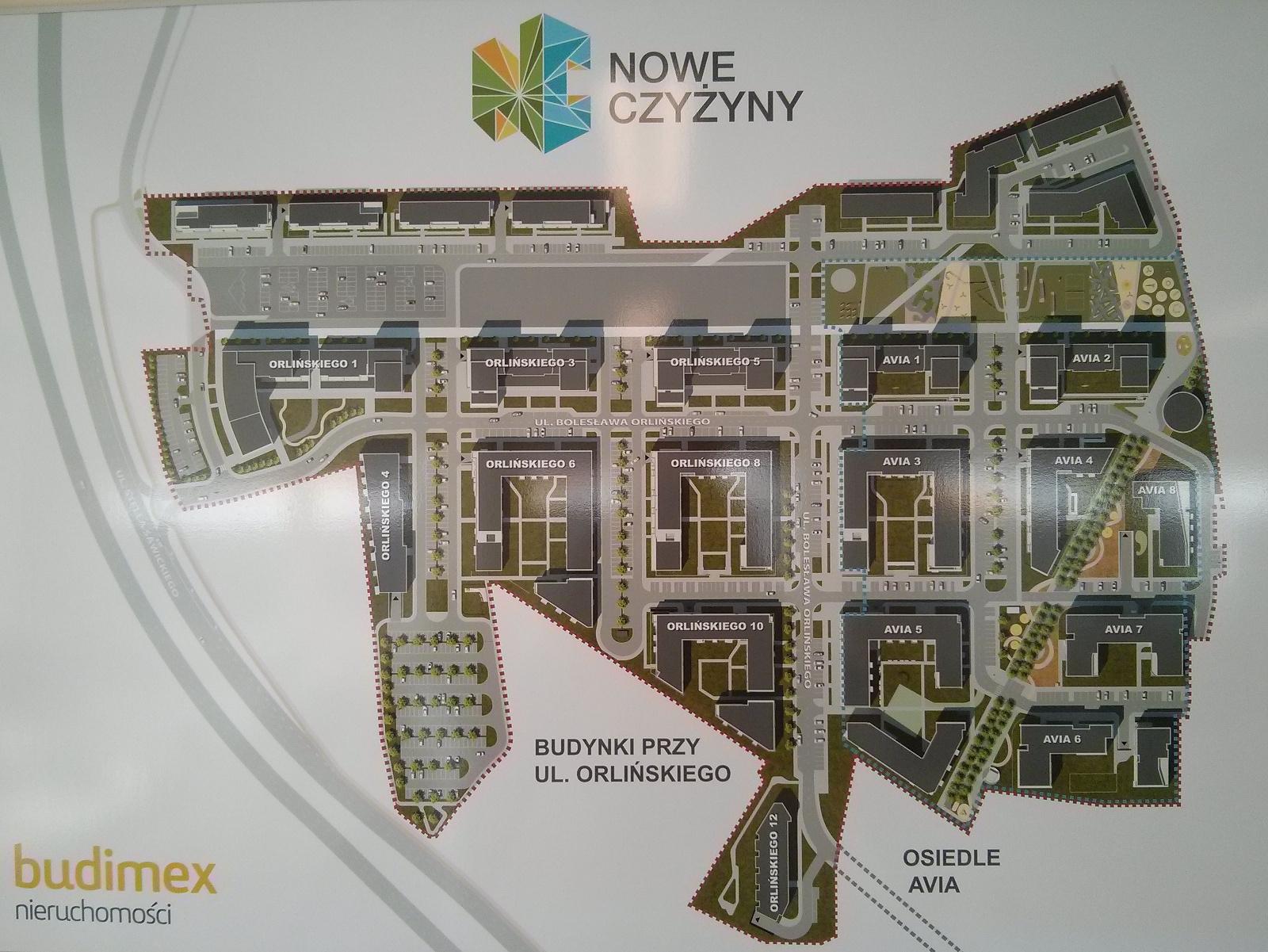 Budimex pokazał mapę osiedla nowe Czyżyny w Krakowie