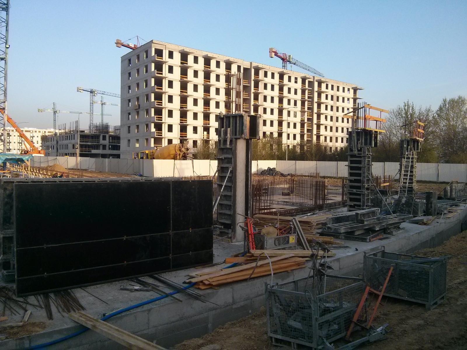 Orlińskiego 1 - początek budowy parteru