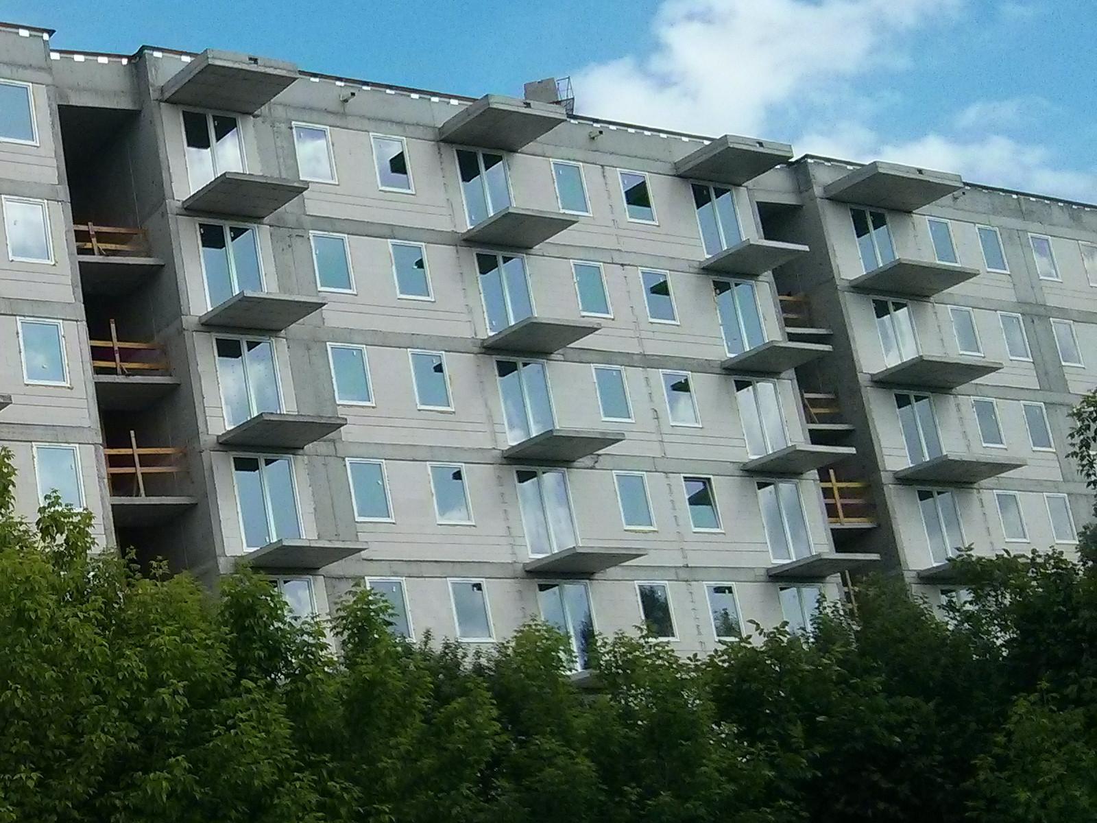 Okna w nowych mieszkaniach na Orlińskiego 4