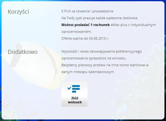 Pokazane przez mBank szczegóły oferty