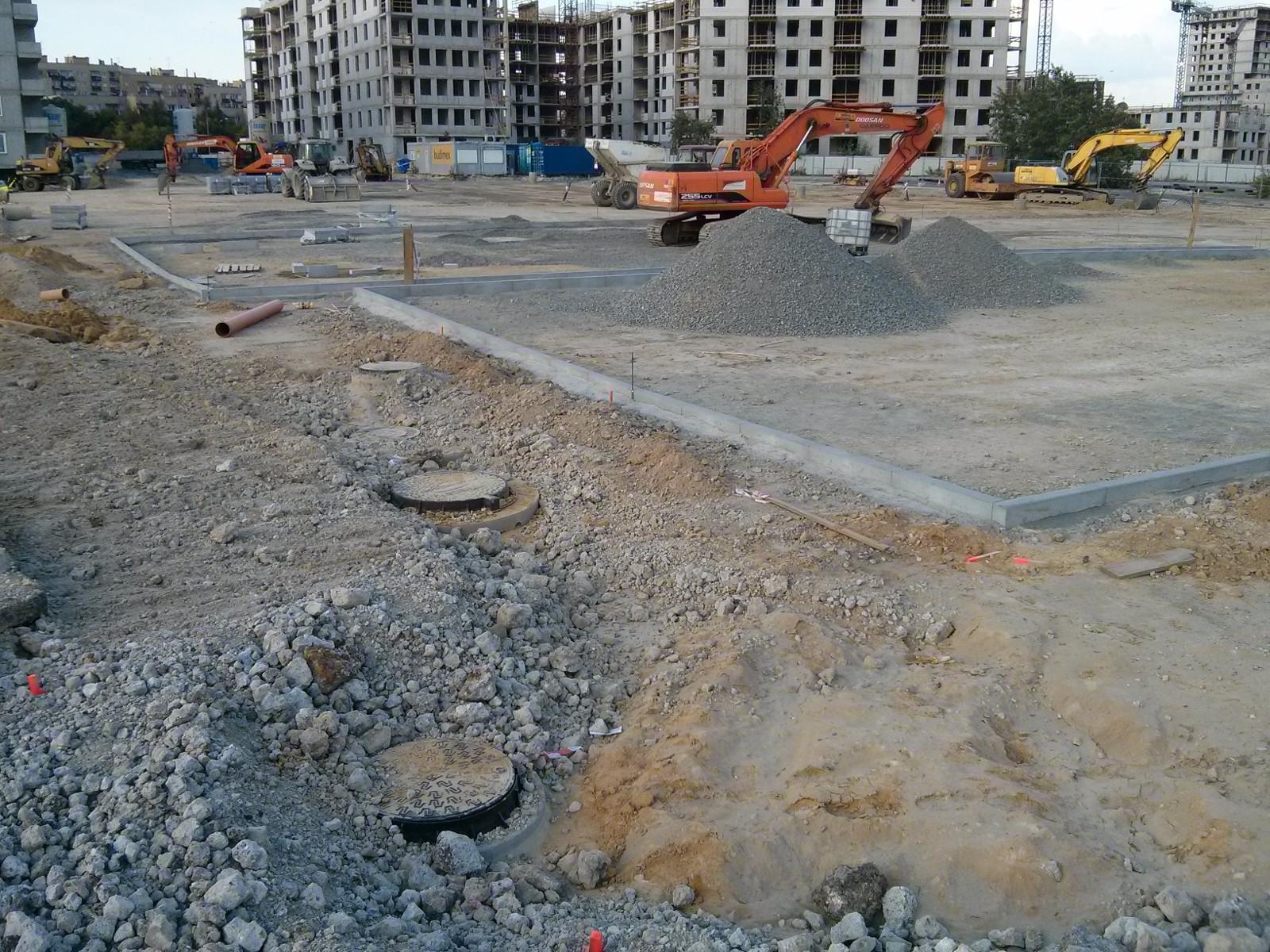 Budimex buduje parking dla samochodów mieszkańców osiedla orlińskiego i Avia