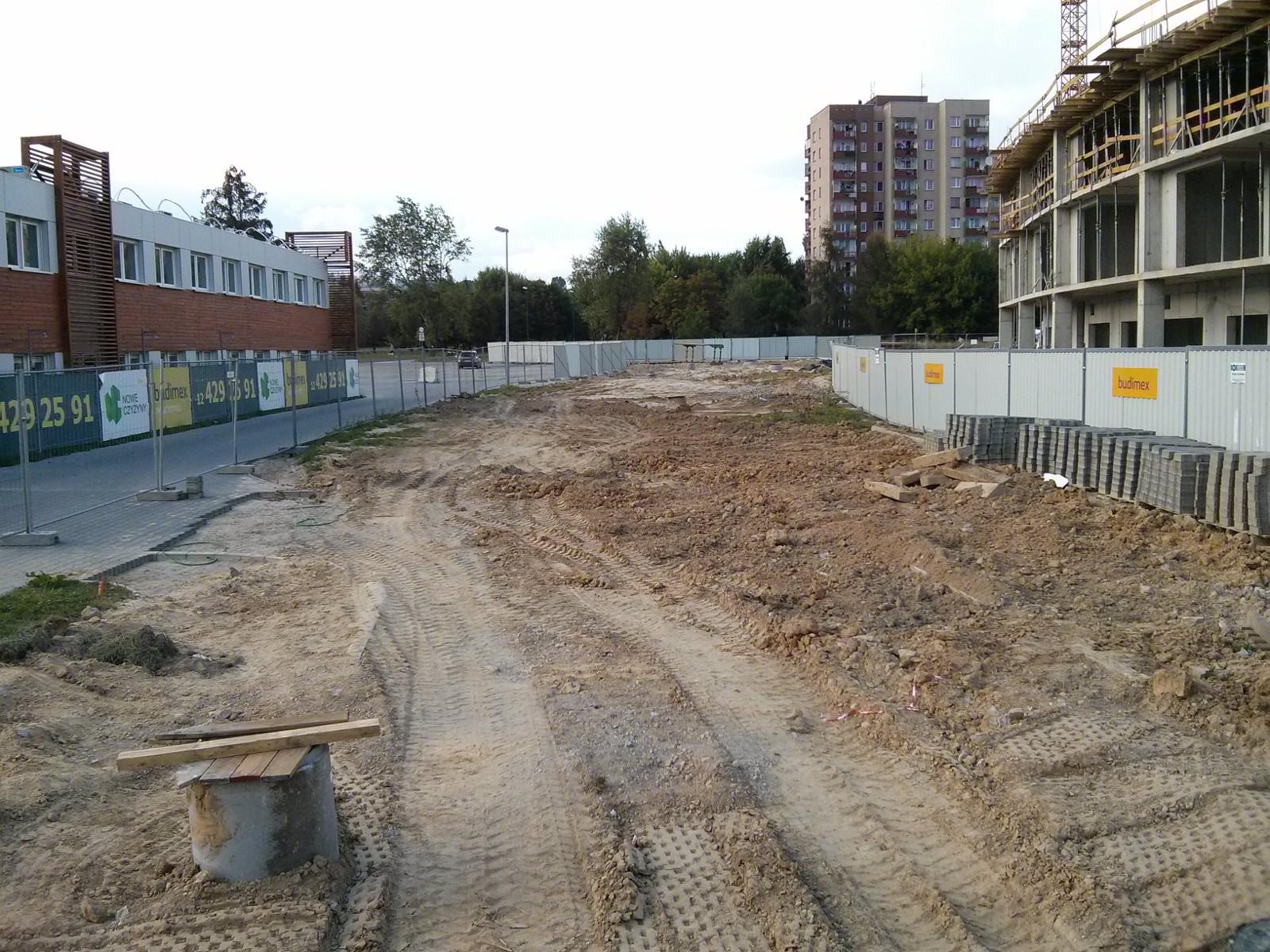 Przebieg nowej drogi dojazdowej do osiedla Orlińskiego w Krakowie Czyżynach