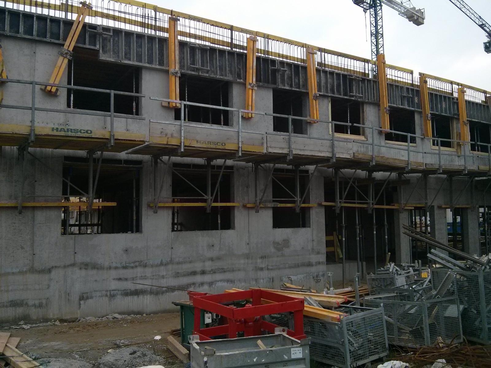 Osiedle Avia 3 w budowie - pierwsze piętro