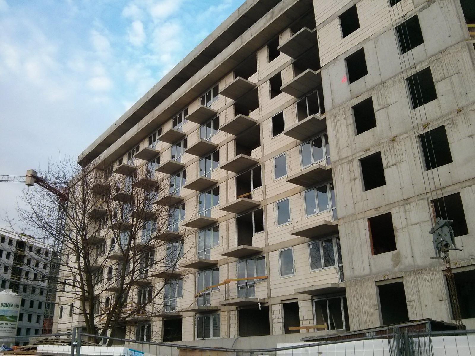 Okna i balkony na inwestycji Avia 5 w Czyżynach