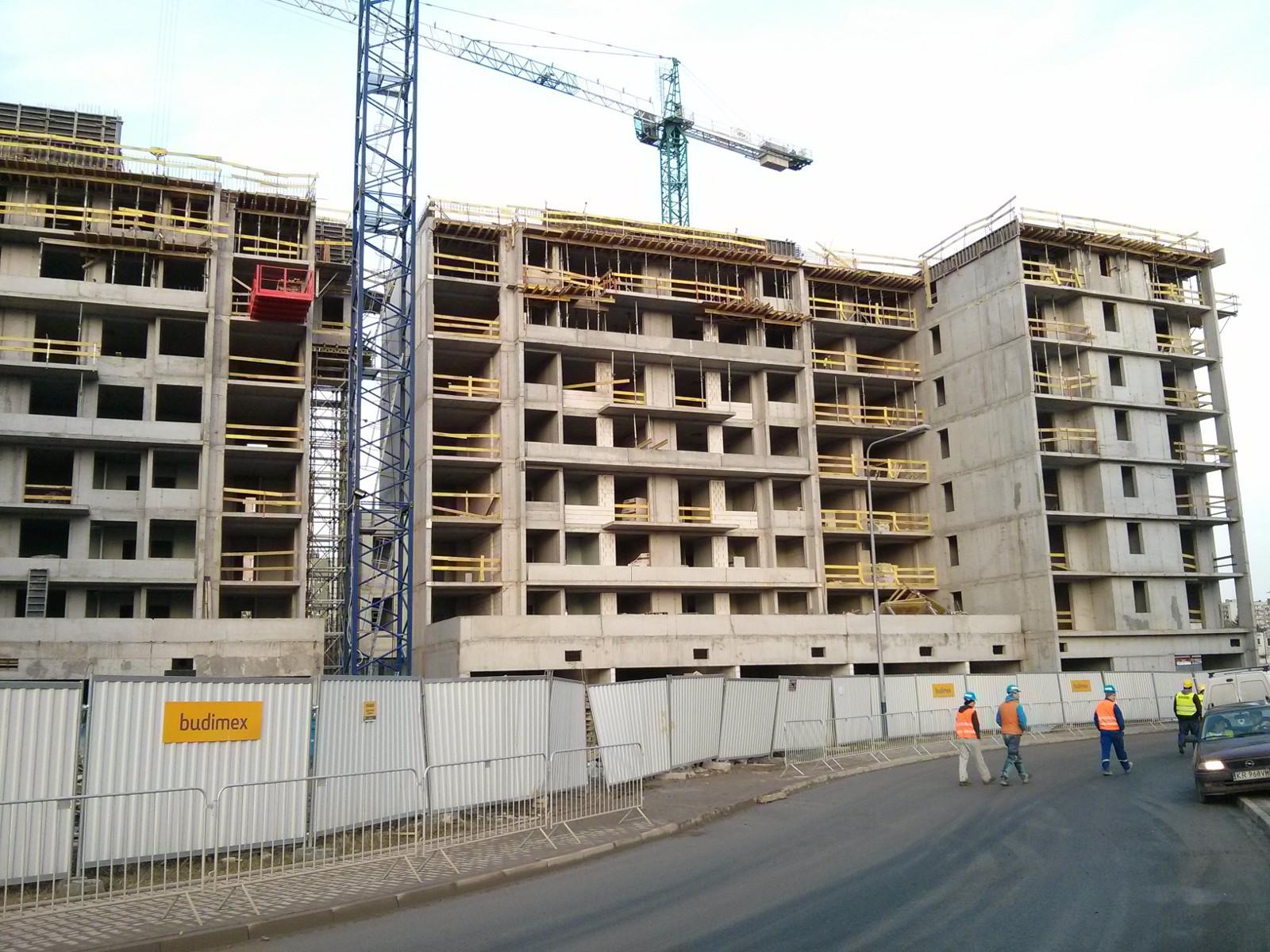 Budowa nowej inwestycji mieszkaniowej w Krakowie Czyżynach Orlińskiego 1