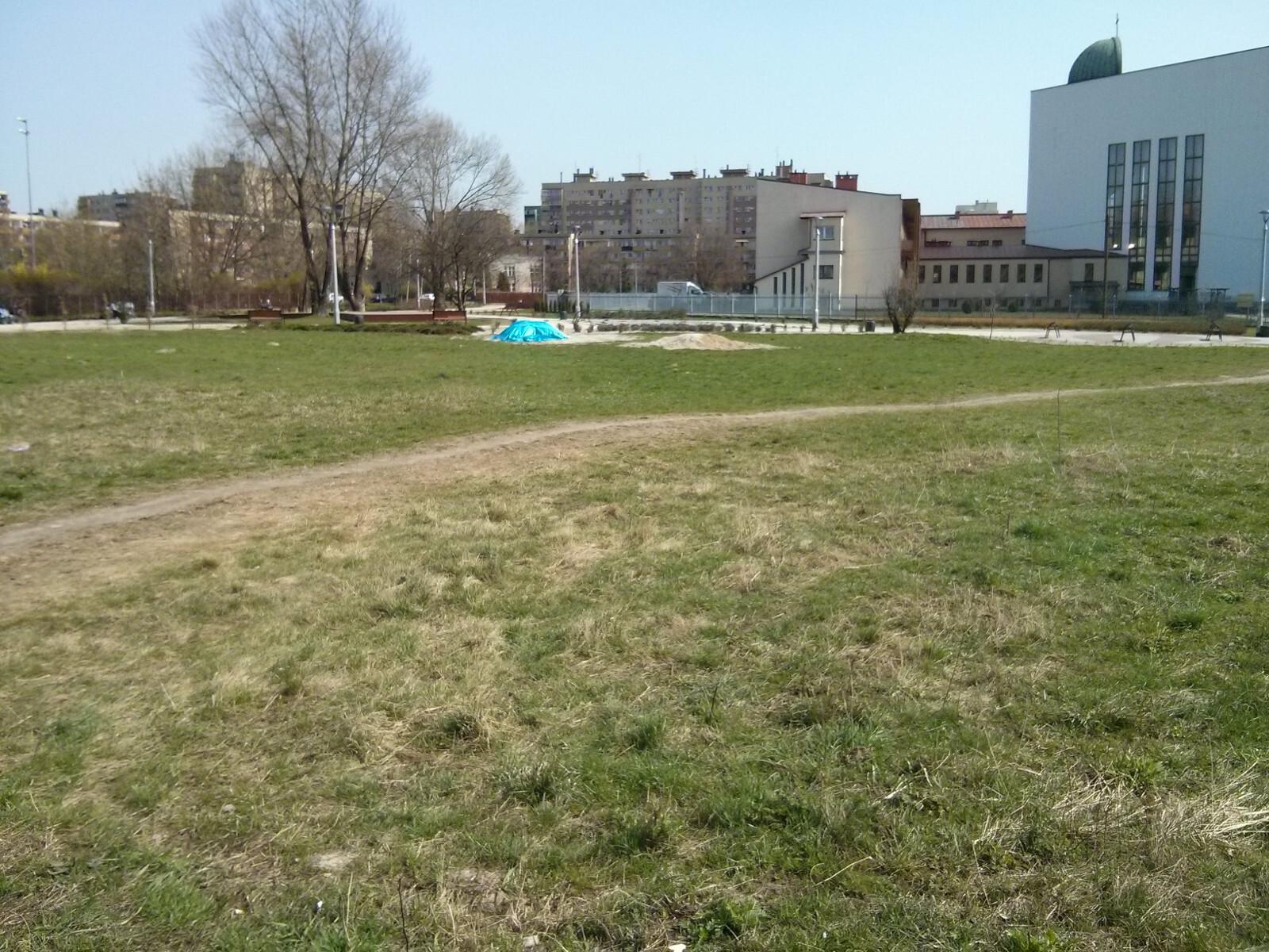 Działka w Czyżynach, gdzie Budimex chce zrobić skwer dla mieszkańców