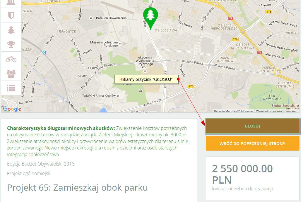Jak głosować w budżecie obywatelskim miasta Krakowa